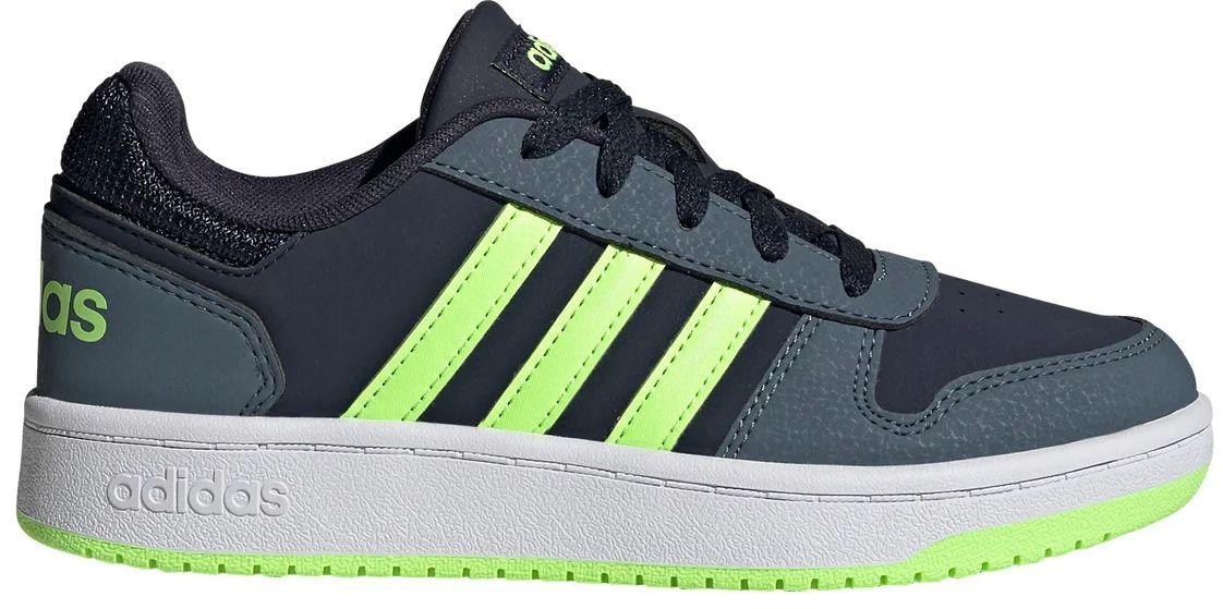 Top! adidas Hoops 2.0 Kids Sneaker aus Nubukleder bis Größe 40 für 21,94€(statt 35€)