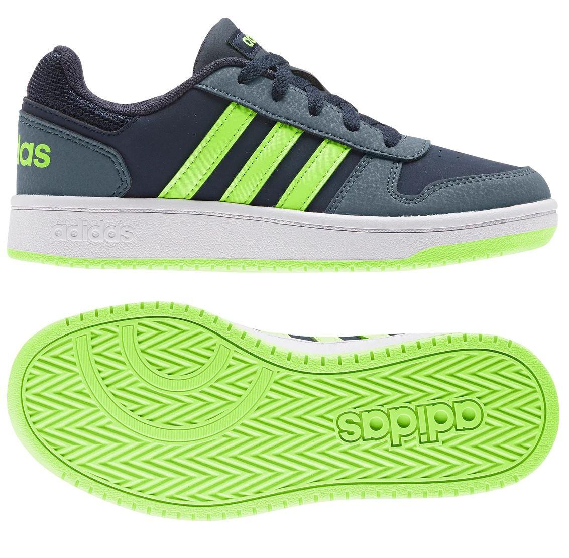 Top! adidas Hoops 2.0 Kids-Sneaker aus Nubukleder bis Größe 40 für 21,94€(statt 35€)