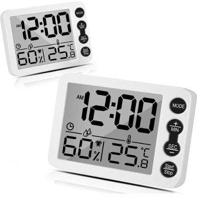 2er Set Tooltoo Thermometer Hygrometer mit Temperatur  und Feuchtigkeitsmesser und LCD Monitor für 6,81€ (statt 16€)