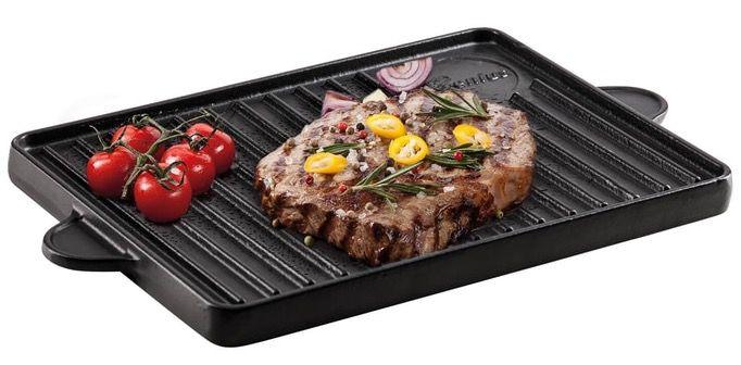 Genius BBQ Grill Platte aus Gusseisen mit Antihaftbeschichtung 2seitig für 29,95€ (statt 40€)