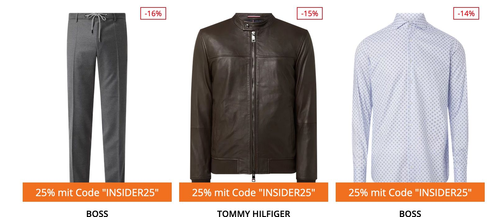 Tommy Hilfiger & BOSS Sale + 25% Extra Rabatt