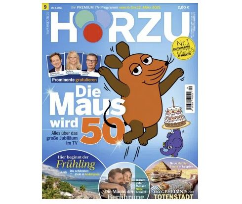 26 Ausgaben HÖRZU TV-Zeitschrift Abo für 65€ + 65€ Amazon Gutschein