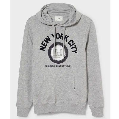 C&A Herren Hoodie im New York Style für 11,24€  (statt 20€)