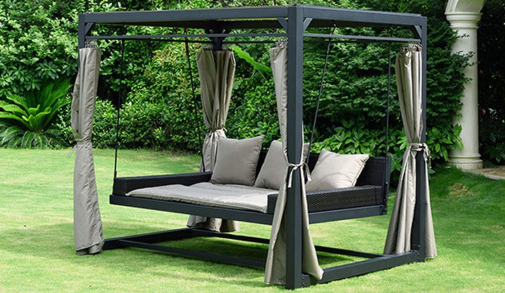 Home Deluxe Pavillon Provence mit Bett in Rattan Optik für 779,99€ (statt 999€)