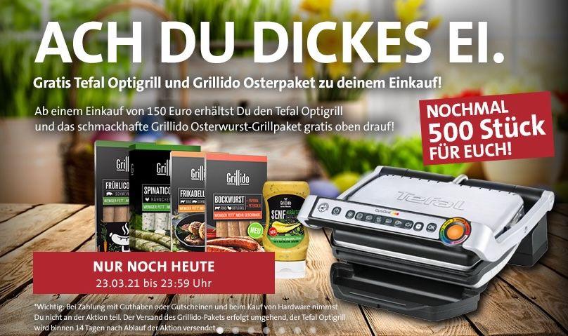 🔥 Kreutzers: gratis Tefal OptiGrill + Grillido Grillpaket ab 150€ Bestellwert + 20% Rabatt auf Fleisch/Wurst