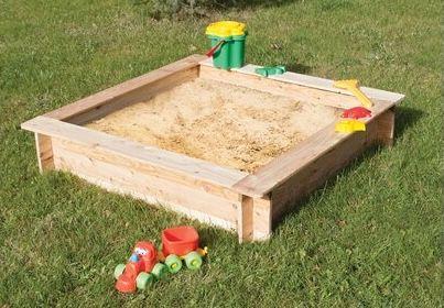 Sandkasten Komplett Bausatz aus Fichtenholz 120 cm x 120 cm für 39,99€ (statt 54€)