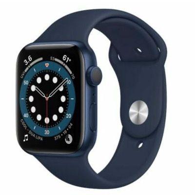 Apple Watch Series 6 (GPS) in Blau 44mm Aluminium mit Sportarmband für 389€ (statt 419€)