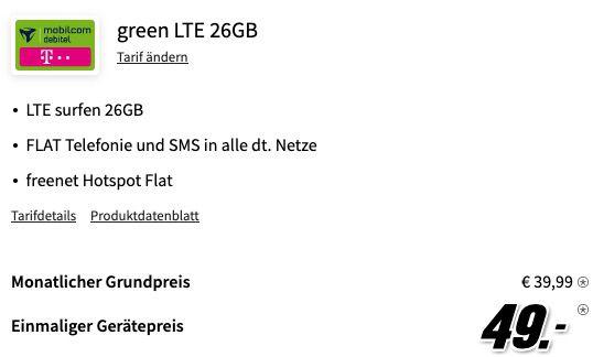 Apple iPhone 12 Mini 64GB für 49€ mit Telekom Allnet Flatrate inkl. 26GB LTE für 39,99€ mtl.