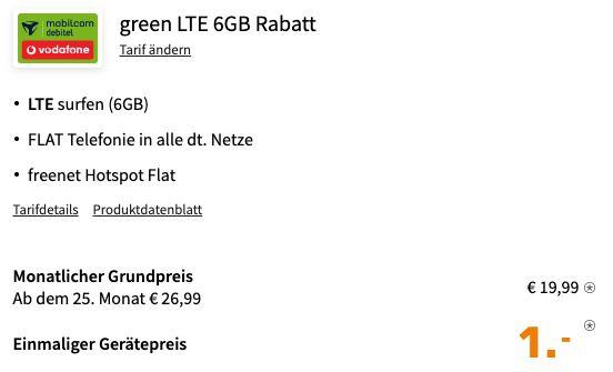 Xiaomi Mi 10T 128GB für 1€ mit Vodafone Allnet Flat mit 6GB LTE für 19,99€ mtl.