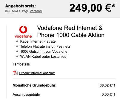 Sony Xperia 5 II für 249€ + Vodafone Red Internet & Phone 1000 Cable für 38,32€mtl.