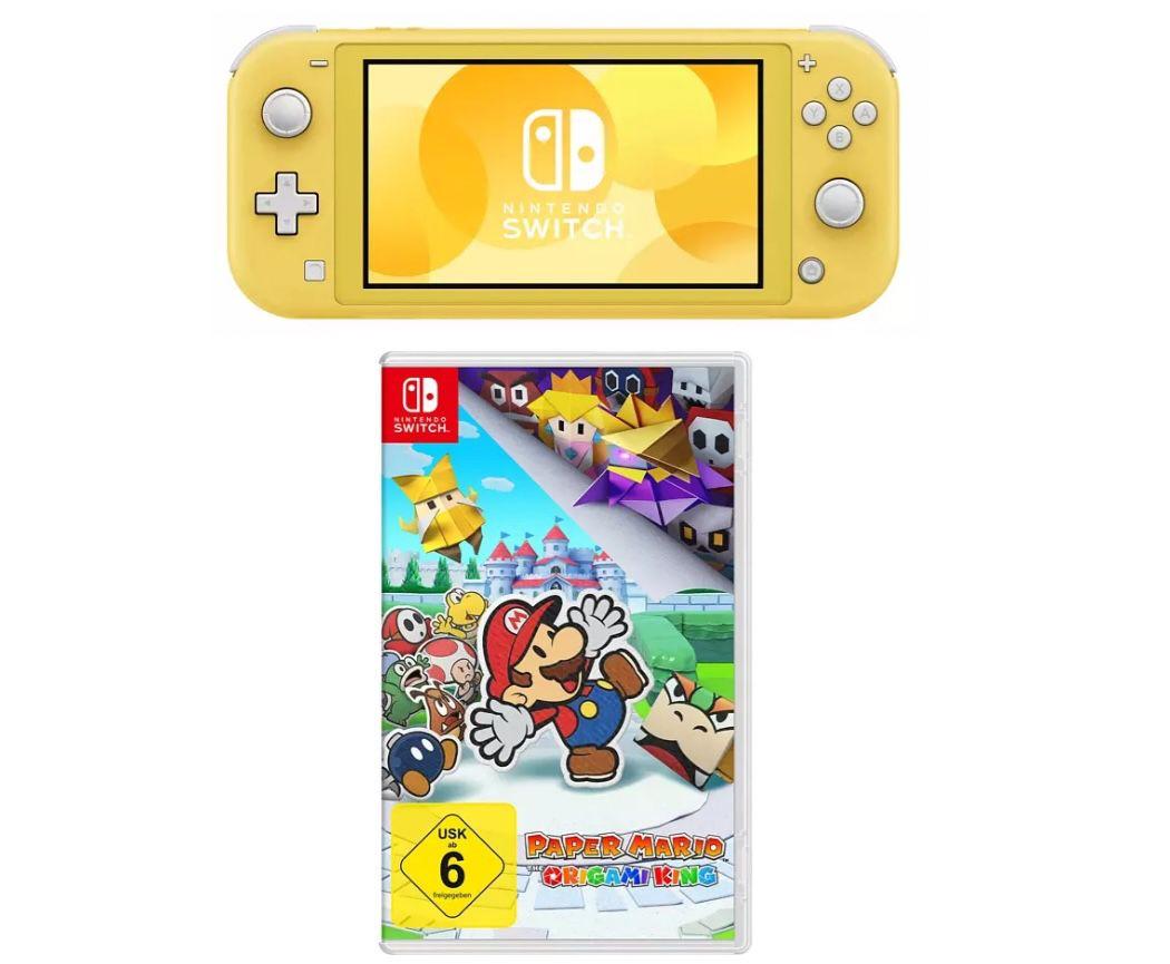 Nintendo Switch Lite Konsole in Gelb + Mario The Origami King für 209,99€ (statt 232€)