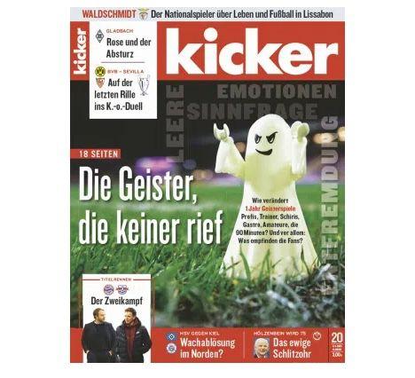 Top! 13 Ausgaben vom Kicker Abo für 71,50€ + 75€ Amazon Gutschein