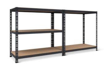 Schwerlastregal mit Unterzug inkl. 5 Holzböden (belastbar bis je 265 kg) ab 29,99€ (statt 45€)