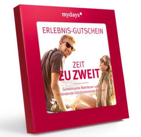 """mydays """"Zeit zu zweit"""" Erlebnis-Gutschein (3 Jahre gültig) für 79,20€ (statt 99€)"""