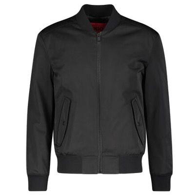 HUGO BOSS Herren Jacke Boris2121 mit leichtem Stehkragen in Schwarz für 241€ (statt 299)
