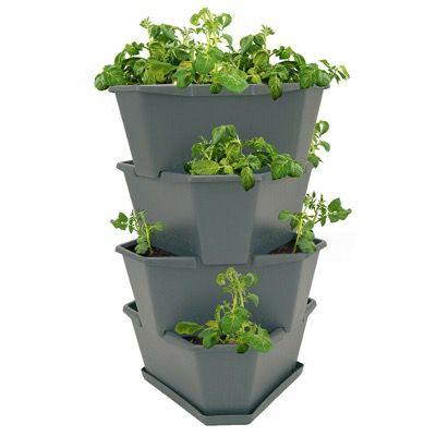 Paul Potato Starter Kartoffelturm stapelbar für Balkon, Garten oder Terrasse inkl. Untersetzer für 39,95€ (statt 45€)