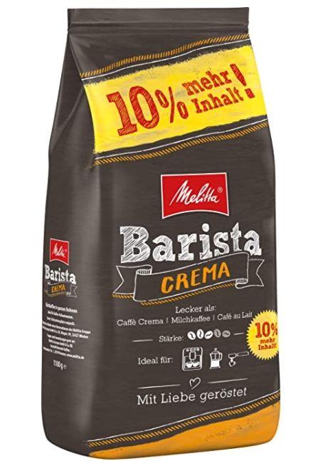 1,1kg Melitta ganze Kaffeebohnen Stärke 3 ab 7,64€ (statt 10€)   Prime