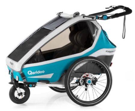 Qeridoo KidGoo 2 Sport (2020) Kinderfahrradanhänger in Petrol für 529€ (statt 599€)