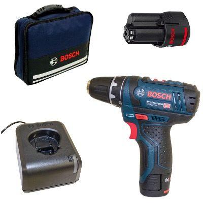 Bosch GSR 12V 15 Akku Bohrschrauber + 2x 2Ah Akku und Tasche für 98,99€ (statt 109€)