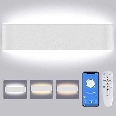 LED Wandleuchte Lureshine 28W Dimmbar mit Fernbedienung in Schwarz oder Weiß für 21,59€ (statt 36€)