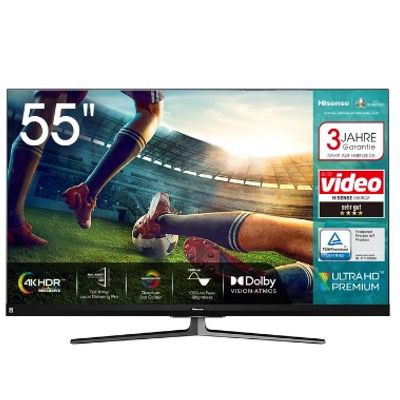 Hisense 55U8QF 4K UltraHD QLED Fernseher in 55 Zoll für 599€ (statt 649€)