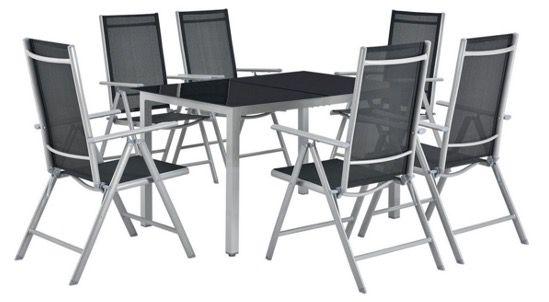 ArtLife Aluminium Gartengarnitur Milano mit Tisch und 6 Stühlen in Silber Grau für 304,95€ (statt 400€)