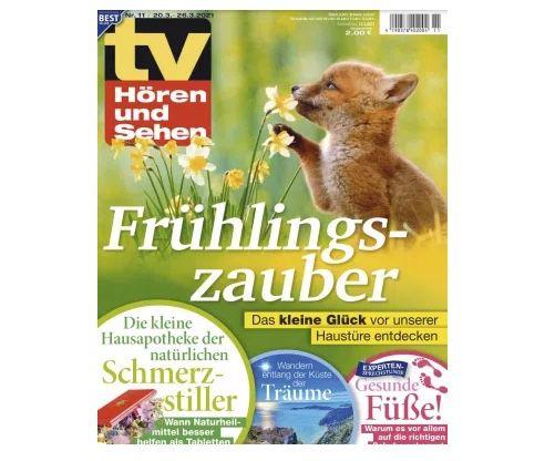 26 Ausgaben TV Hören & Sehen Abo für 65€ + Prämie: 60€ Amazon Gutschein