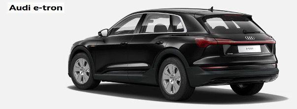 Gewerbe: Audi e tron Elektro mit 313PS in Schwarz für nur 269€ netto   LF 0,66