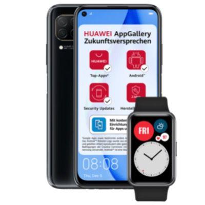 Huawei P40 Lite + Huawei Watch Fit für 1€ + o2 Flat mit 7GB LTE für 13,99€ mtl.