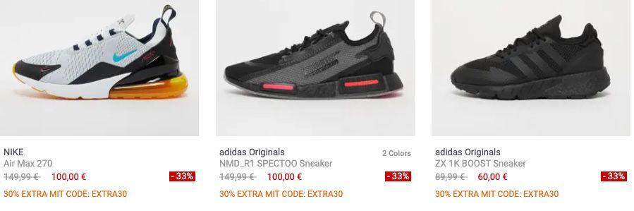 Snipes Sale mit bis zu 50% + 30% Extra Rabatt   z.B. Reebok Club C Revenge Sneaker für nur 35€ (statt 67€)