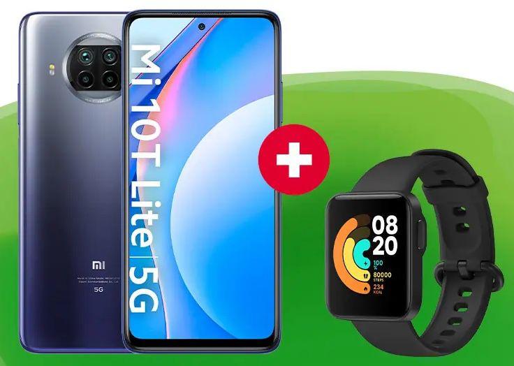 Xiaomi Mi 10T Lite 5G 128GB + Mi Watch Lite für 263,95€ (statt 324€)