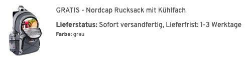 5er Pack OTTO KERN T Shirts in für 31,99€ (statt 40€) + gratis: Nordcap Rucksack mit Kühlfach