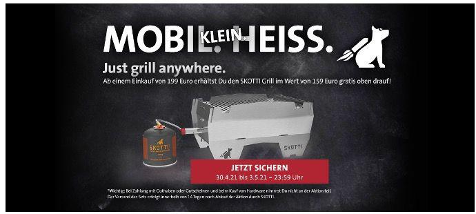 🔥 Kreutzers: Skotti Grill im Wert von 155€ ab einem 199€ Bestellwert + 20% Rabatt auf Fleisch/Wurst