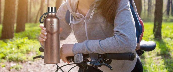 50% Rabatt auf FEIJIAN 600ml Trinkflasche Vakuum isoliert aus doppelwandigem Edelstahl ab 7,49€ (statt 15€)   Prime