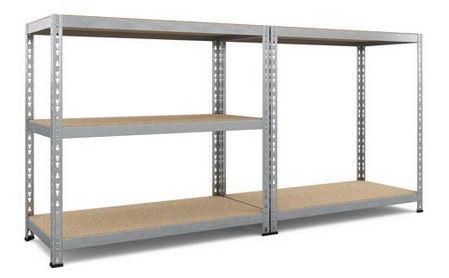 Schwerlastregal mit Unterzug inkl. 5 Holzböden (belastbar bis je 265 kg) ab 24,99€ (statt 45€)   nur Abholung