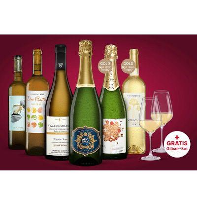 🔥 Vinos Online-Weinprobe inkl. 4x Weißwein + 2x Cava + 2 Weingläser inkl. ab 39,99€ (statt 82€)