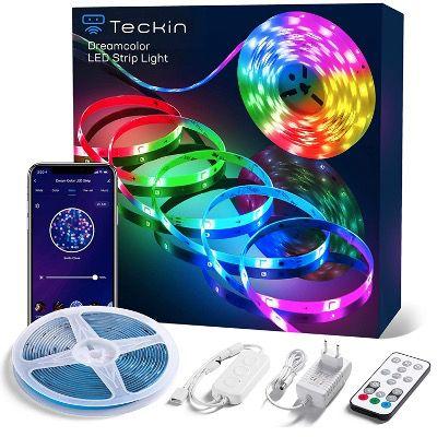 Teckin 5m RGB LED Streifen mit App Steuerung für 18,99€ (statt 27€)