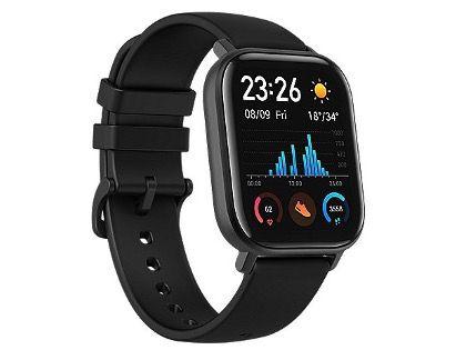 AMAZFIT GTS Smartwatch mit Silikonarmband in Schwarz für 76,41€ (statt 104€)