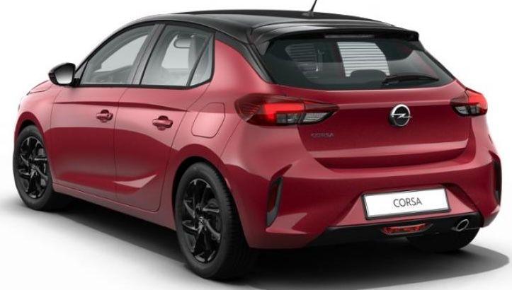 Privat: Opel Corsa GS Line mit 101 PS in Chili Rot für 125€ mtl.   LF: 0.58