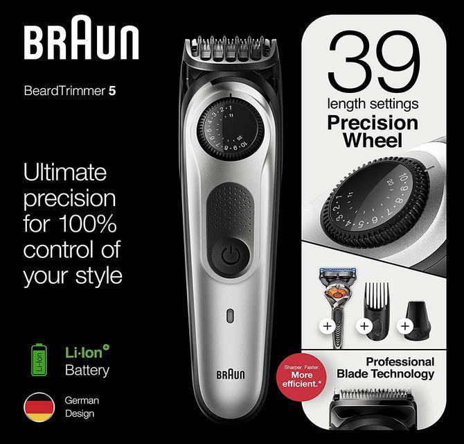 BRAUN BT5260 Bart  u. Haarschneider mit Zubehör für 35,05€ (statt 43€)