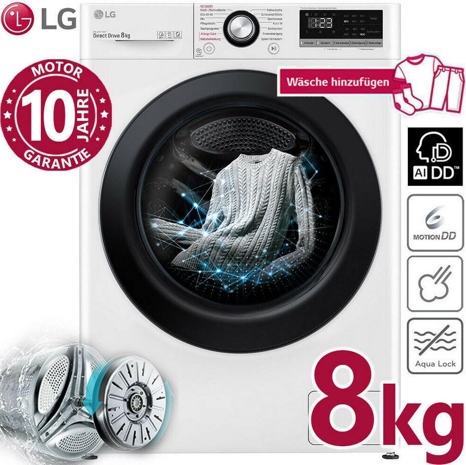 LG F4WV408S0   8Kg Waschmaschine max 1.400U/min Dampffunktion für 379€ (statt 468€)
