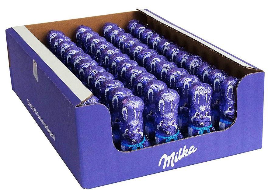 Milka Schmunzelhase Alpenmilch, 55er Pack (55 x 15g) für 29,99€ (statt 41€)