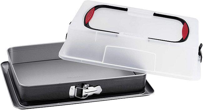 Probus Blechkuchen Springform mit Transporthaube für 14,99€ (statt 34€)