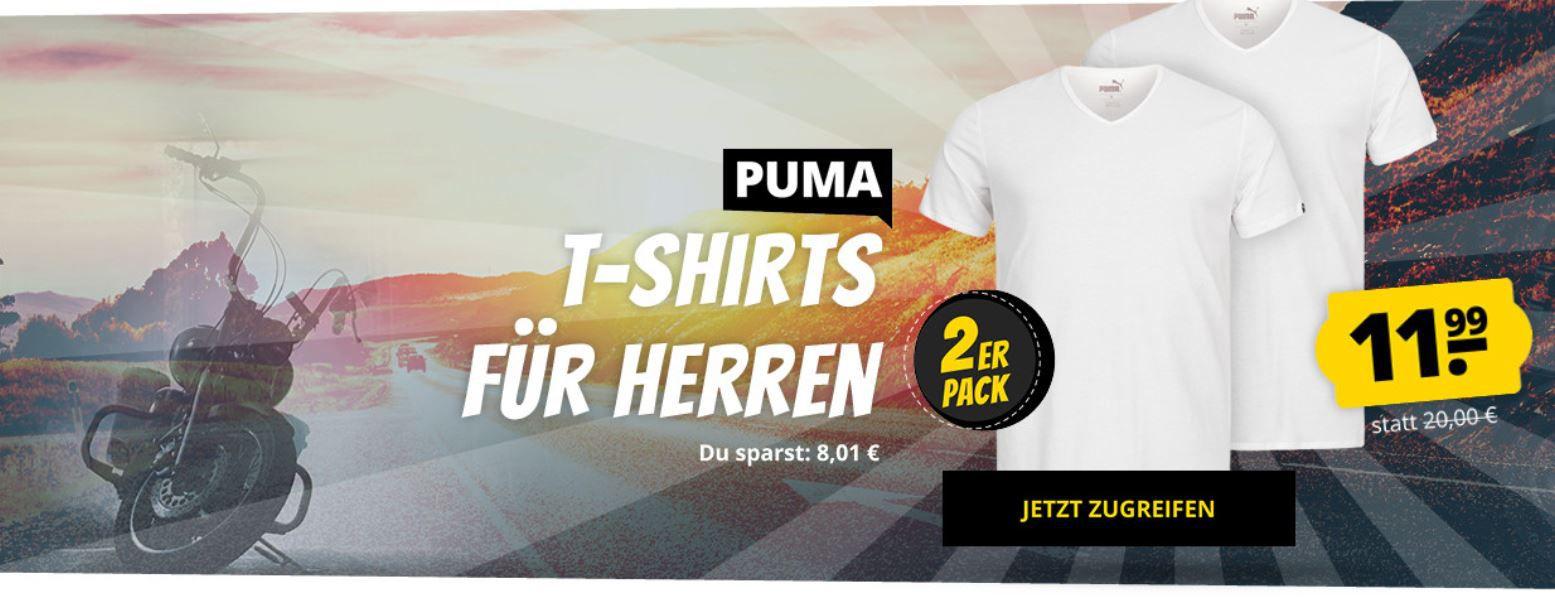 Doppelpack: PUMA Basic V Neck Herren T Shirts für 15,95€ (statt 20€)