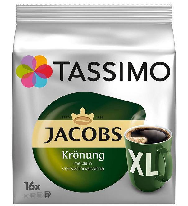 TASSIMO Creamy Kaffee Paket Jacobs Krönung Crema Milka 5 Packungen 64 Portionen für 19,95€ (statt 26€)
