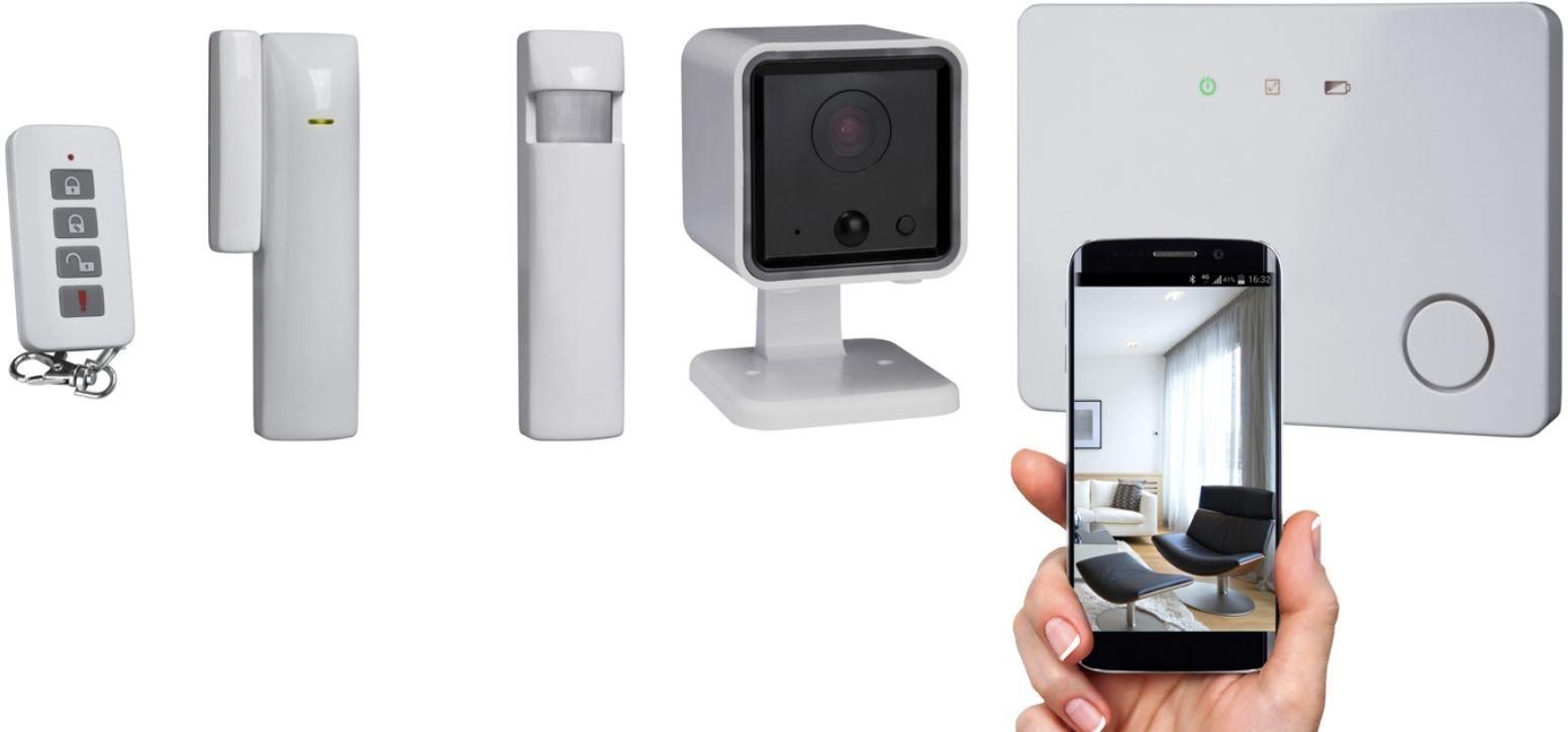 Smartwares Alarmsystem Set mit Zubehör und App für 39,99€ (statt 60€)