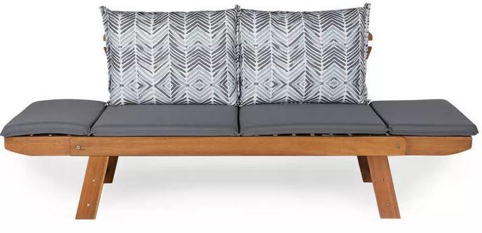 ambia Holz Gartenbank mit Auflage und Kissen für 213,95€ (statt 299€)