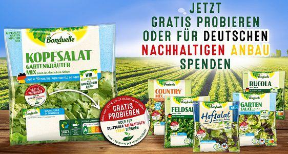 Frische Salate von Bonduelle gratis ausprobieren oder Geld spenden