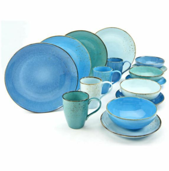 CreaTable 20157 Nature Collection AQUA Kombiservice 16tlg für 59,99€ (statt 70€)
