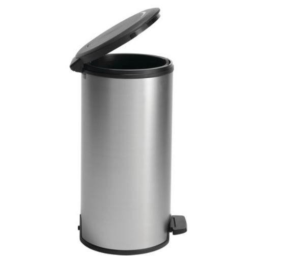 Curver Deco Tritt Abfalleimer (30 Liter) in Metalloptik für 25,90€ (statt 55€)